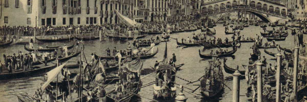 Regata e festa in Canal Grande.