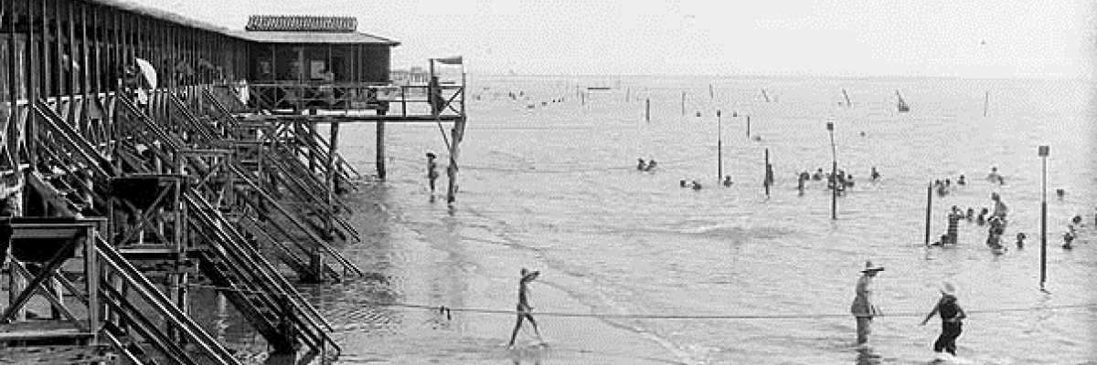 Stabilimento balneare al Lido di Venezia.