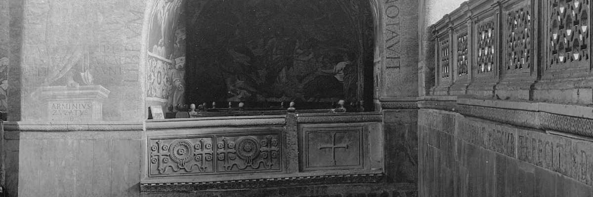 Una caratteristica loggia interna alla Basilica di San Marco (Brooklyn Museum).