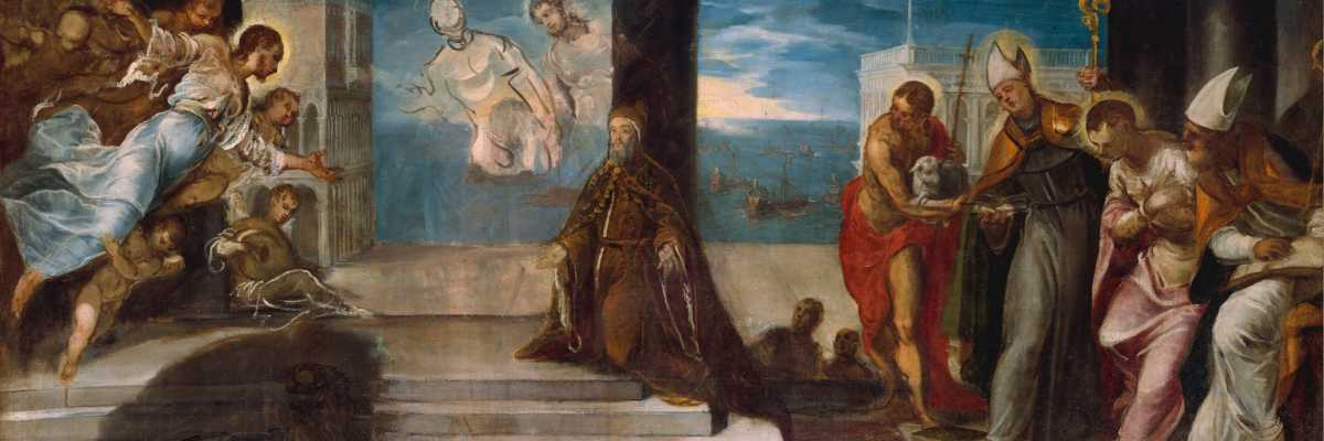acopo Tintoretto, Doge Alvise Mocenigo presentato al Redentore, The Met Fifth Avenue New York