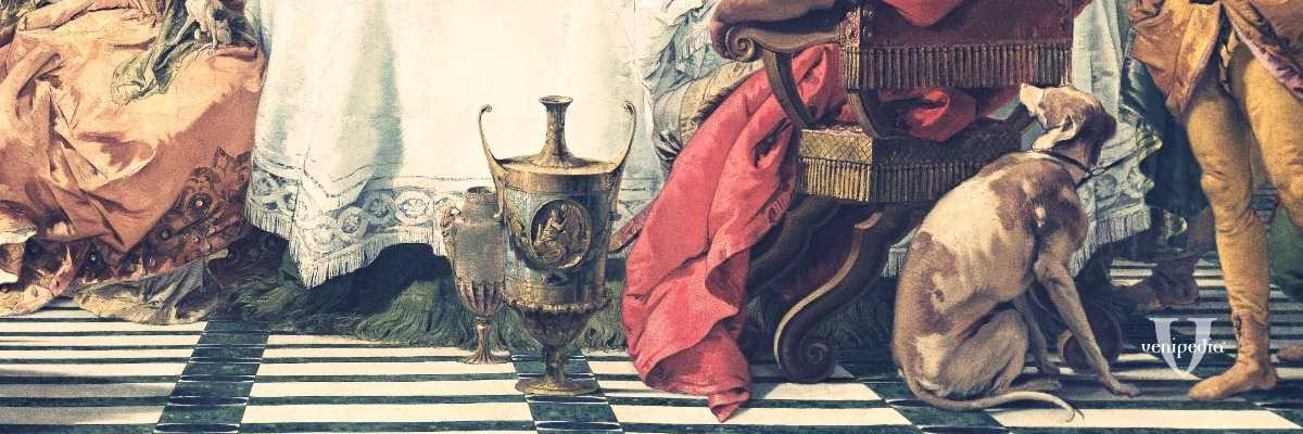 """Frammento del dipinto """"Il banchetto di Cleopatra"""", cm. 249 x 346, National Gallery of Victoria, Melbourne"""