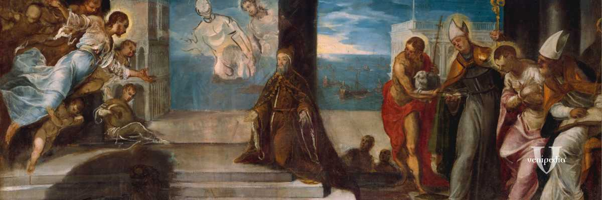 acopo Tintoretto, Doge Alvise Mocenigo presentato al Redentore, The Met Fifth Avenue New York