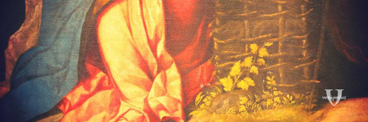 Frammento di un dipinto di Jacopo Palma il Vecchio.