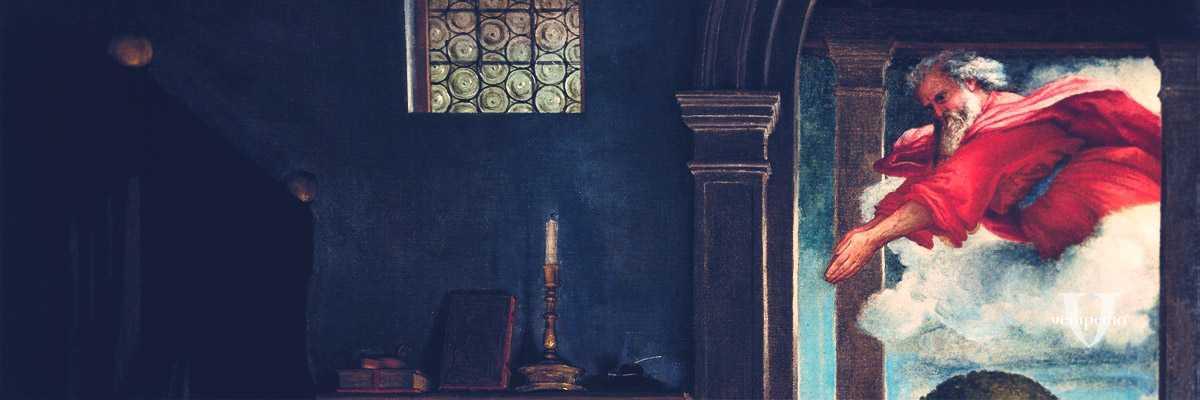 Frammento di un dipinto di Lorenzo Lotto.