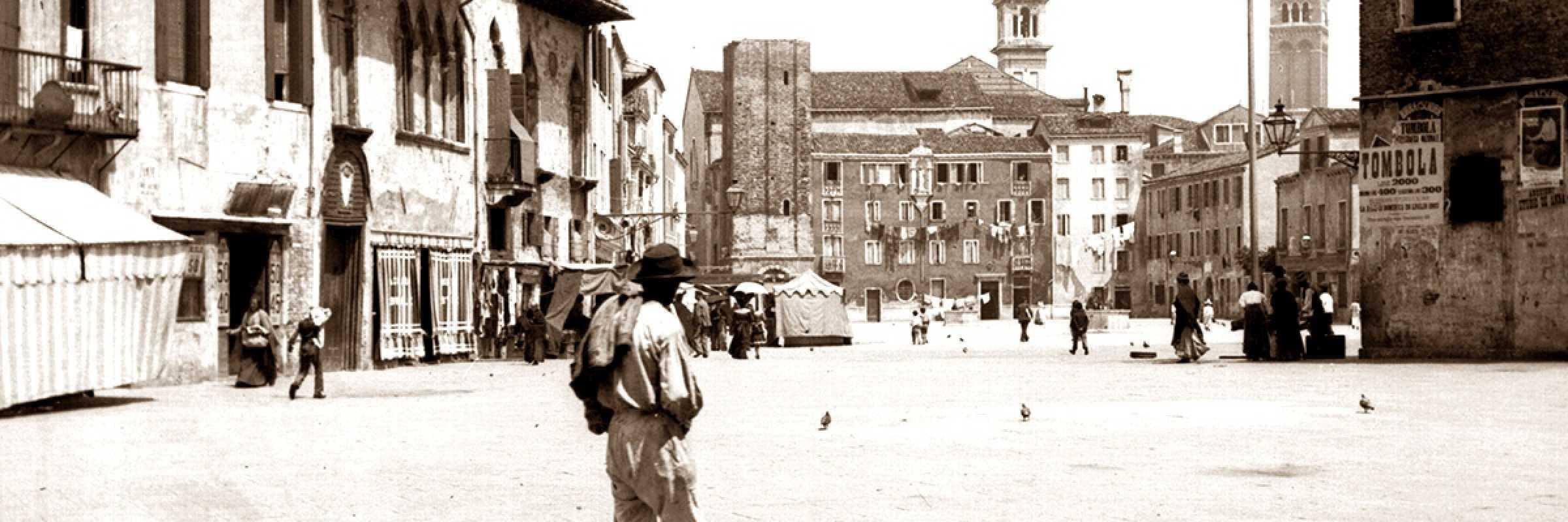 Campo Santa Margherita, 1900 circa (Archivio IRE, fondo T. Filippi).