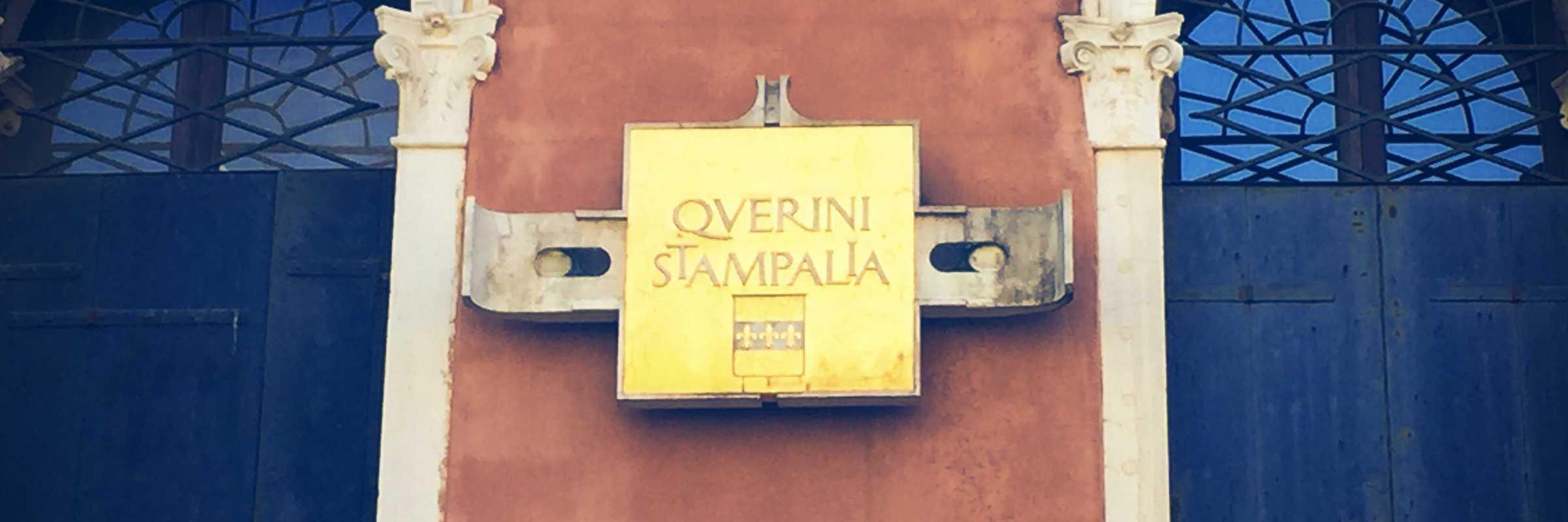 Detail of the external plaque of the Querini Stampalia. (Venipedia / Bazzmann Archive)