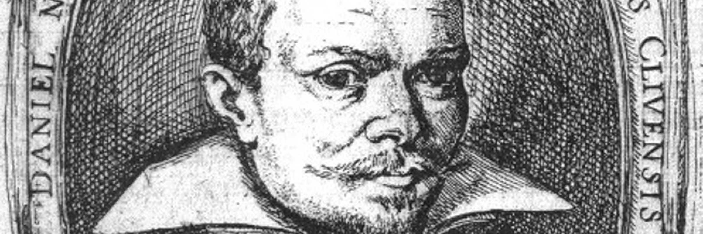 Ritratto di David Nijs, incisione da: Gigli Cesare, La pittura trionfante, Venezia, Giovanni Alberti, 1615.