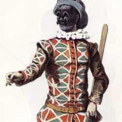 Arlecchino, la maschera più apprezzata dalla gente.