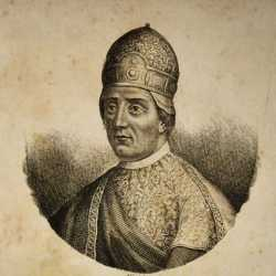 Incisione raffigurante il doge Paoluccio Anafesto.