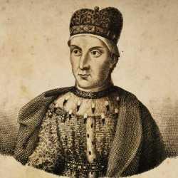 Incisione raffigurante il doge Pietro Ziani.