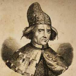 Incisione raffigurante il doge Marcantonio Giustinian