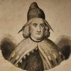 Incisione raffigurante il doge Alvise Mocenigo II