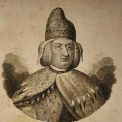 Incisione raffigurante il doge Alvise Mocenigo IV