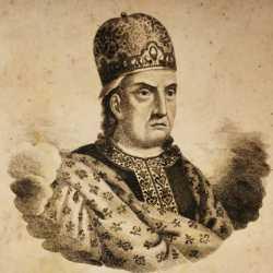 Incisione raffigurante il doge Giovanni Galbaio.