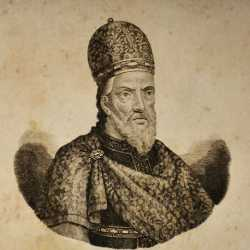 Incisione raffigurante il doge Domenico Monegario.