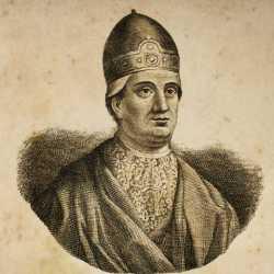 Incisione raffigurante il doge Marcello Tegalliano