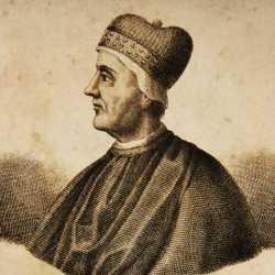 Incisione raffigurante il doge Giovanni Dandolo.