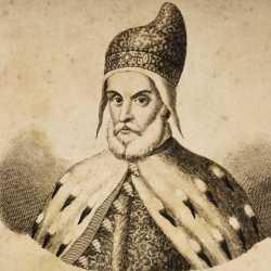 Incisione raffigurante il doge Leonardo Donà dalle Rose
