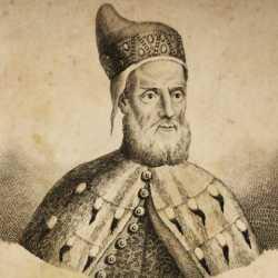 Incisione raffigurante il doge Francesco Donà