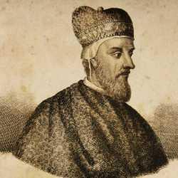 Incisione raffigurante il doge Pietro Gradenigo.
