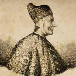 Incisione raffigurante il doge Giovanni Mocenigo