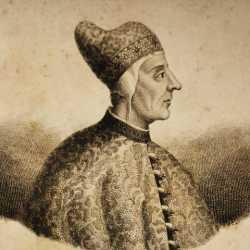 Incisione raffigurante il doge Pietro Mocenigo