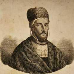 Incisione raffigurante il doge Pietro Polani.