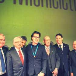 Da sinistra: Marco Agostini, Cristiano Chiarot, Damiano Michieletto, Giorgio Crovato, Alfredo Borsato, Massimo Rigo