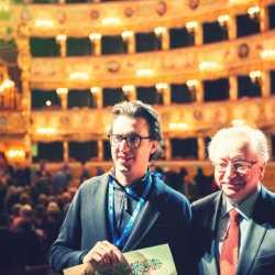 Damiano Michieletto insieme al soprintendente Cristiano Chiarot.