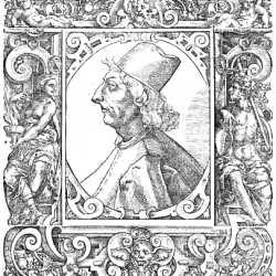 Ritratto di Marco Antonio Sabellico, da: Giovio Paolo, Elogia virorum literis illustrium..., Basilea, Peter Perna, 1577