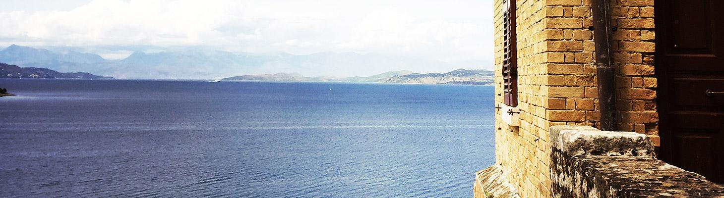 Veduta panoramica dalla fortezza vecchia di Corfù.