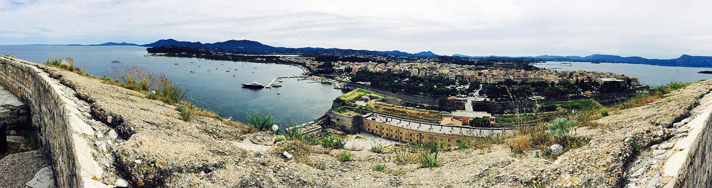 Veduta panoramica dalla fortezza vecchia di Corfù
