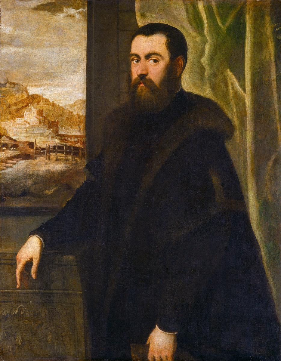 Jacopo Tintoretto, Ritratto di senatore veneziano con sfondo di paesaggio, National Gallery of Art di Washington.