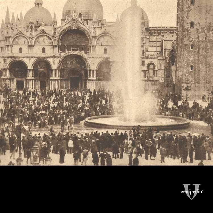L'inaugurazione dell'acquedotto a Piazza San Marco avvenuta il 23 giugno 1884