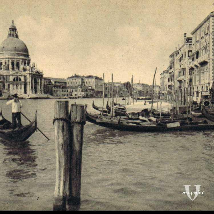 Panorama dal molo dell'area marciana sul Bacino di San Marco e sulla Basilica della Santa Maria della Salute.
