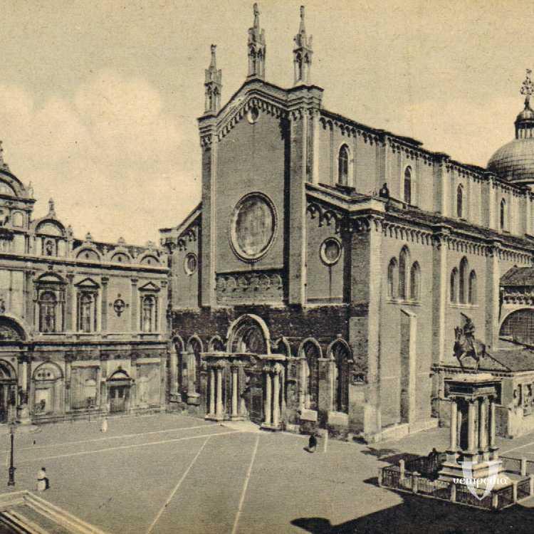 Campo Santi Giovanni e Paolo con l'omonima Chiesa e la Scuola San Marco attualmente Ospedale Civile.