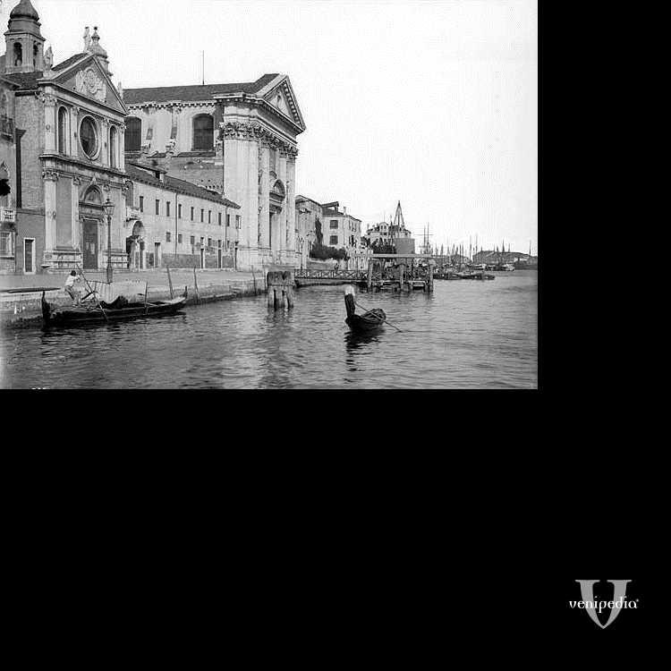 La Chiesa dei Gesuati affacciata sul Canale della Giudecca.