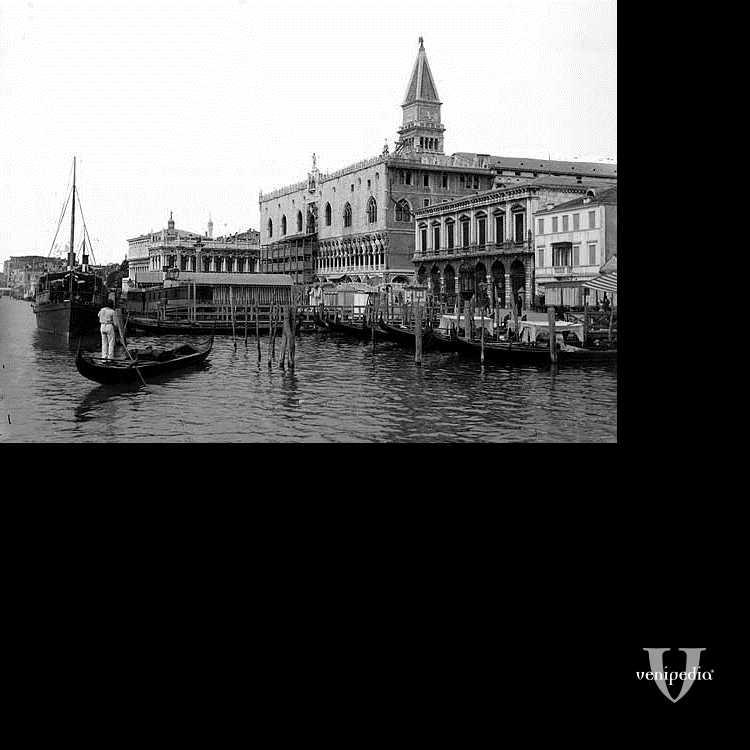 Il molo di San Marco visto dalla laguna.