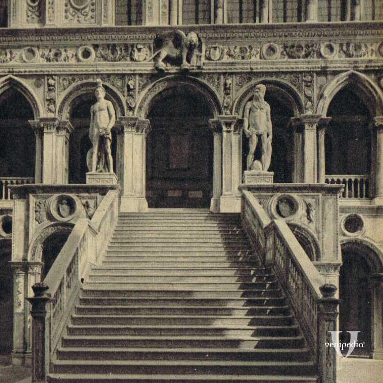 La Scala dei Giganti all'interno di Palazzo Ducale.