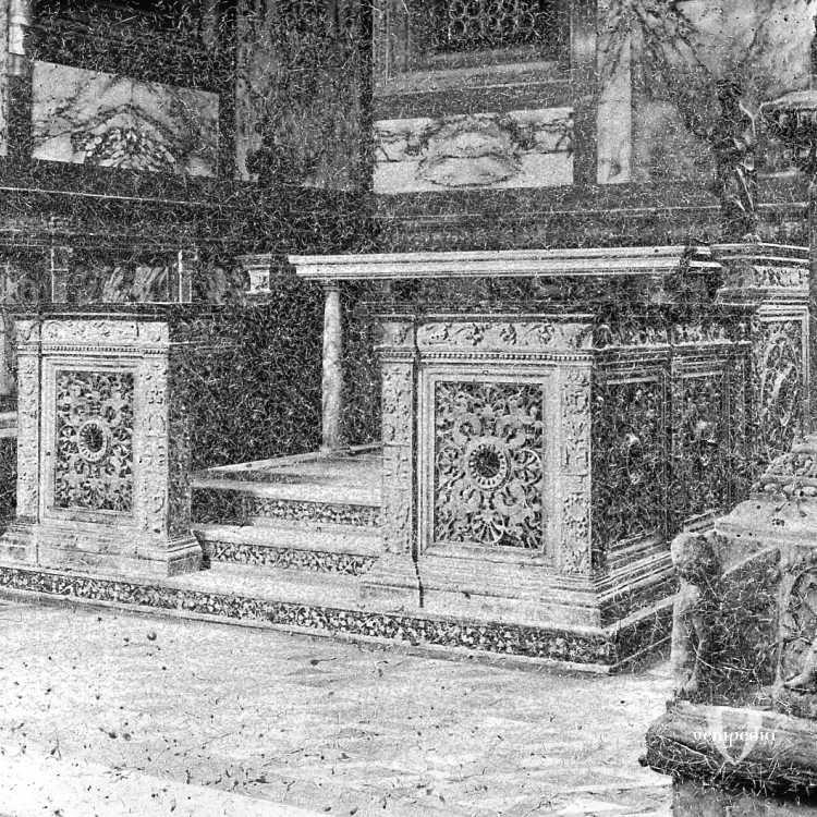 L'altare maggiore della Chiesa di Santa Maria dei Miracoli (Brooklyn Museum).