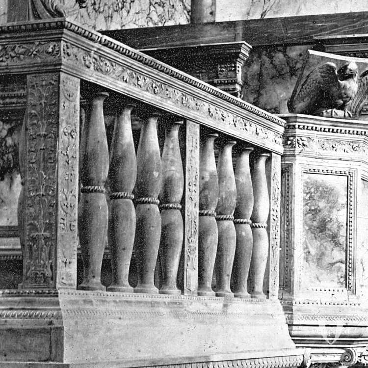 Un particolare dell'Interno della Chiesa di Santa Maria dei Miracoli (Brooklyn Museum).