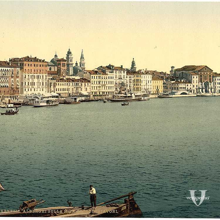 Riva degli Schiavoni, nome preso dai famosi e fedeli soldati balcanici a servizio della Repubblica (Library of Congress - Detroit Publishing Company)-