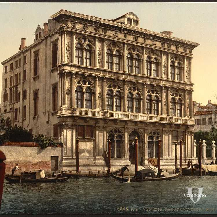 Fastoso Palazzo Vendramin Calergi famoso per essere diventato la sede del Casinò di Venezia (Library of Congress - Detroit Publishing Company).