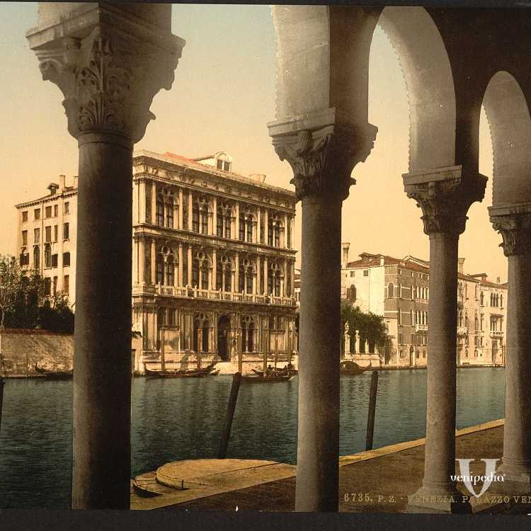 Ca' Vendramin vista dal Fontego dei Turchi (Library of Congress - Detroit Publishing Company).