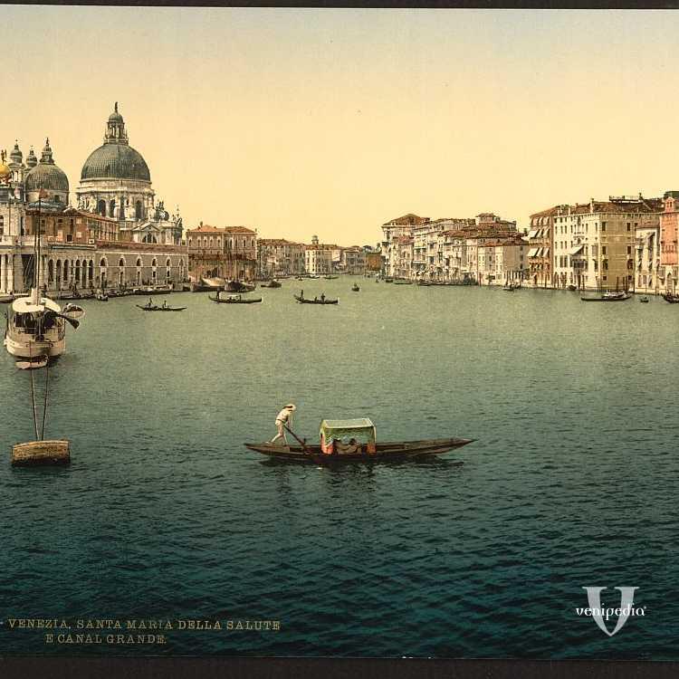 Punta della Dogana e imboccatura del Canal Grande (Library of Congress - Detroit Publishing Company)