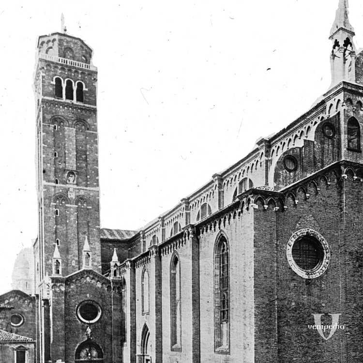 La Basilica di Santa Maria Formosa dei Frari, luogo in cui sono custoditi due famosi dipinti del Tiziano (Brooklyn Museum)