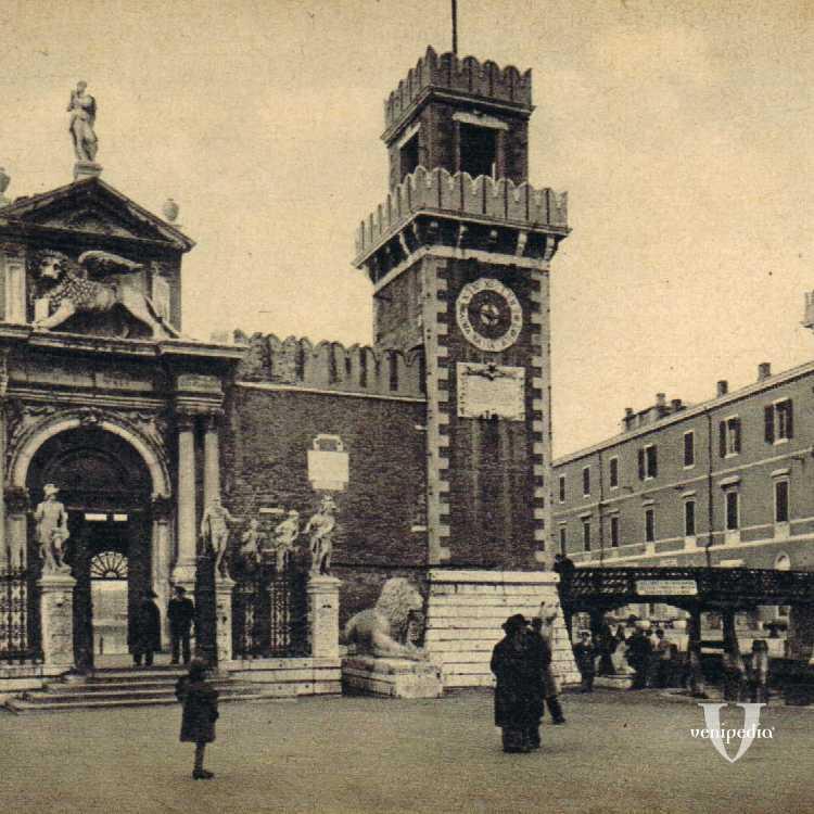 Main entrance of the Arsenale (porta di terra)