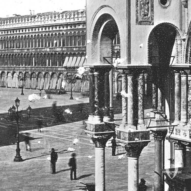 Inusuale angolazione di piazza San Marco vista da Palazzo Ducale (Brooklyn Museum).