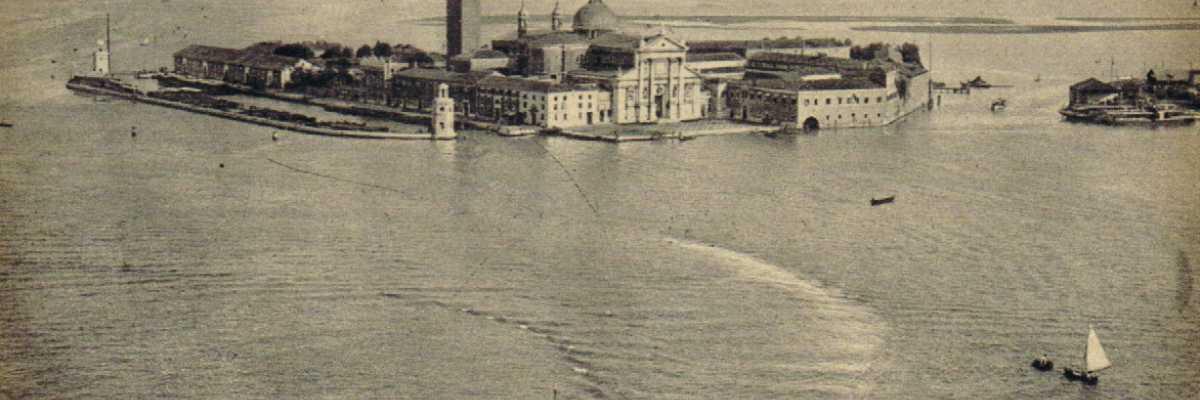 Suggestiva visione dell'isola di San Giorgio.