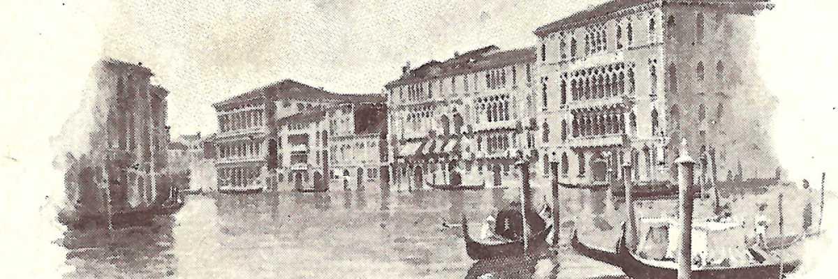 I palazzi Rezzonico, Giustiniani e Foscari del sestiere Dorsoduro.